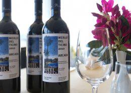 Merlot del Ticino Arcada, der Hauswein im Restaurant