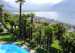 Blick von der Terrasse des Hotel Stella