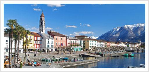 Quai von Ascona nahe Locarno