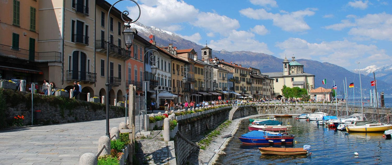 Quai und Hafen von Cannobio