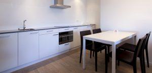 Küchenzeile im Design-Zimmer des Hotels Stella