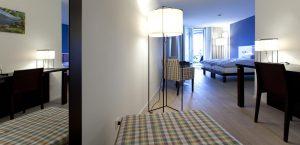 Design-Zimmer mit Zusatzbett