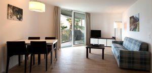 Wohnzimmer der Suite im Casa Giardino