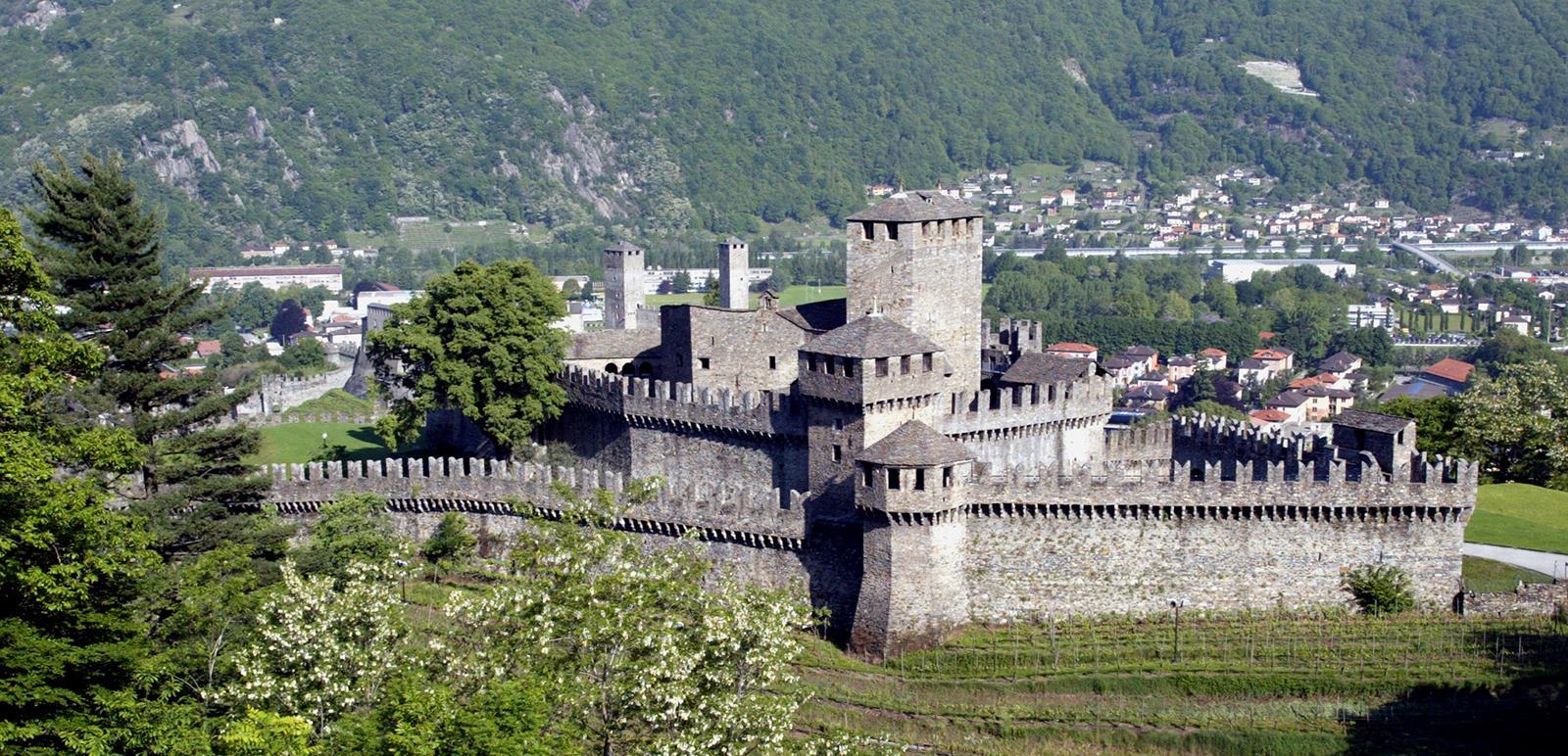 Die Burg Montebello in Bellinzona