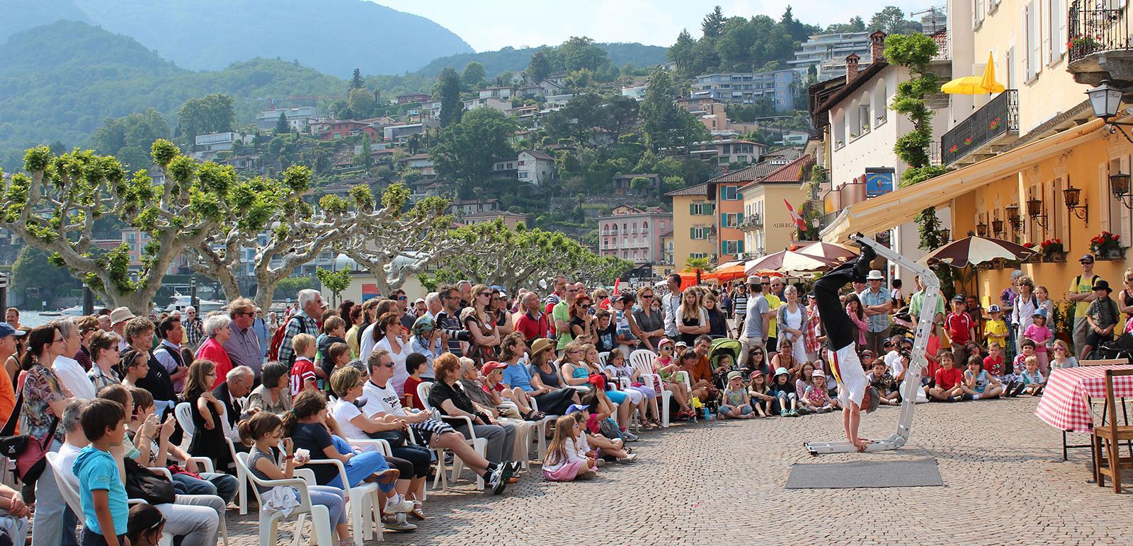 Strassenkünstler beim internationalen Festival in Ascona