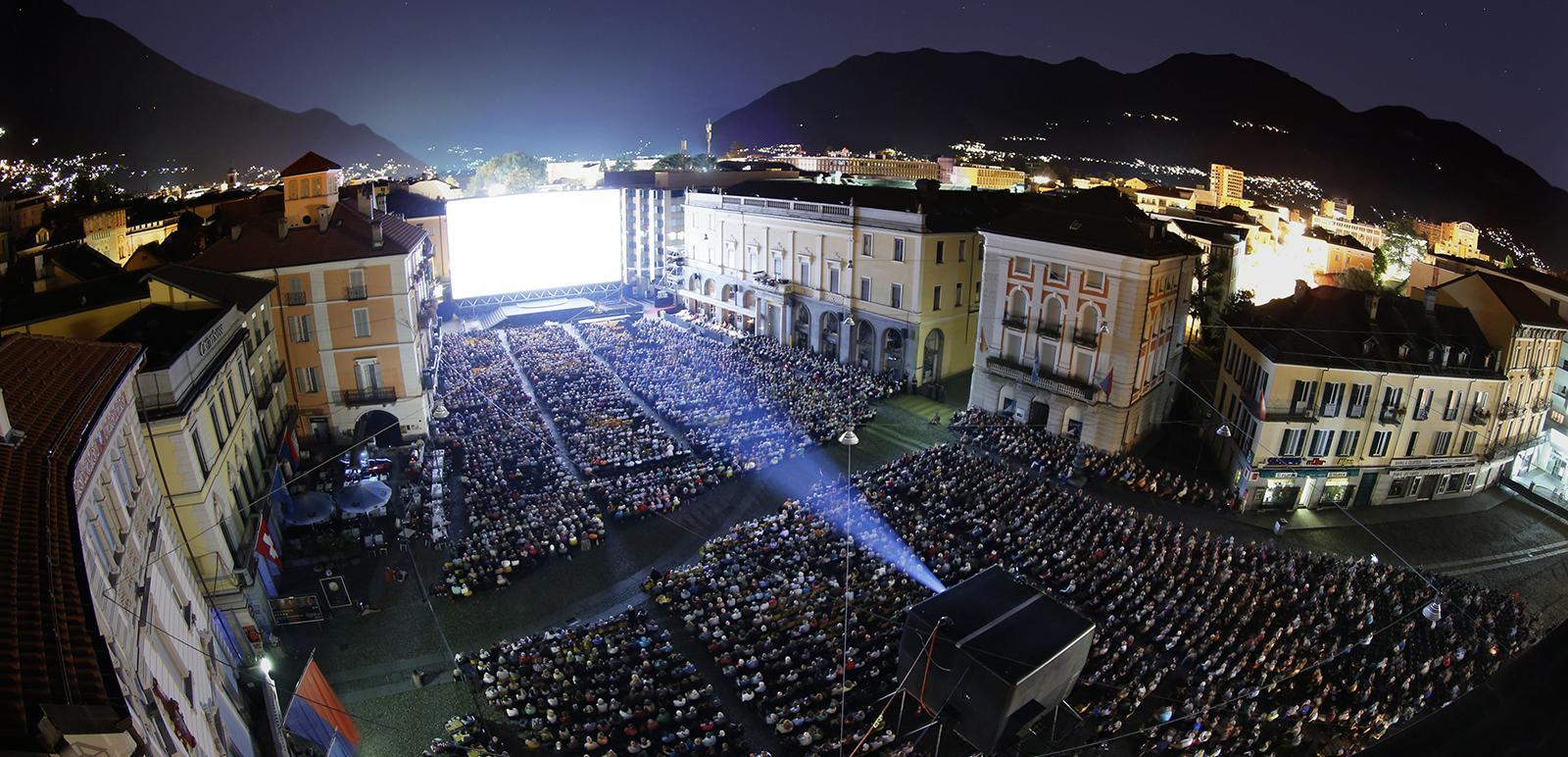 Filmfestival von Locarno auf der Piazza Grande