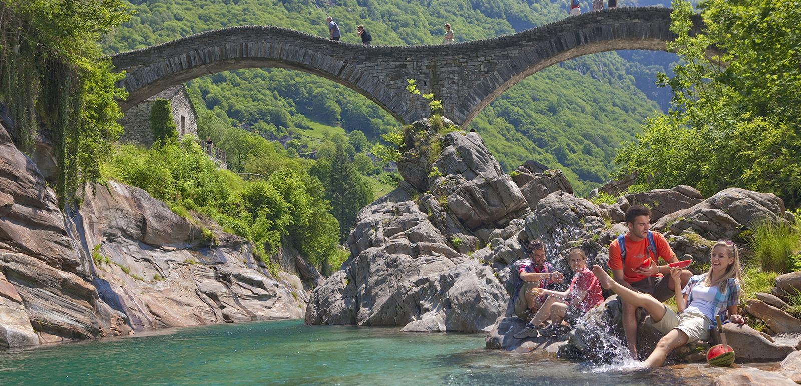 Die Ponte dei salti, auch Römerbrücke genannt