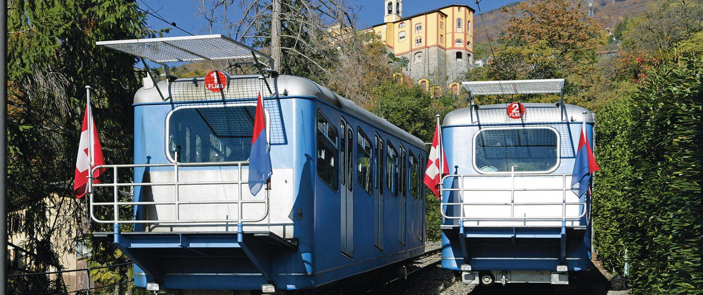 Standseilbahn von Locarno nach Madonna del Sasso