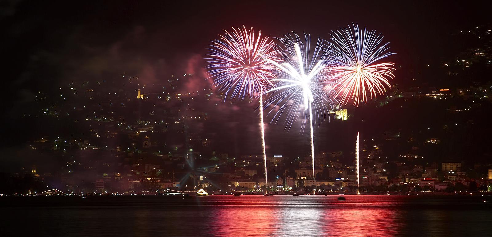 Feuerwerk in Locarno